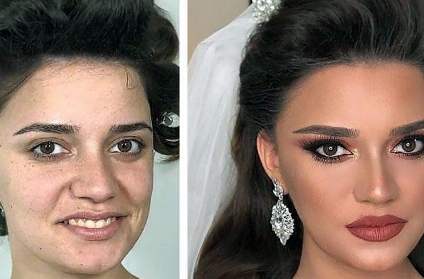 «Настоящие королевы красоты!». Сравниваем фото невест до и после макияжа на свадьбу